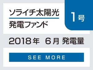 ソライチ太陽光発電ファンド1号 2018年6月発電量